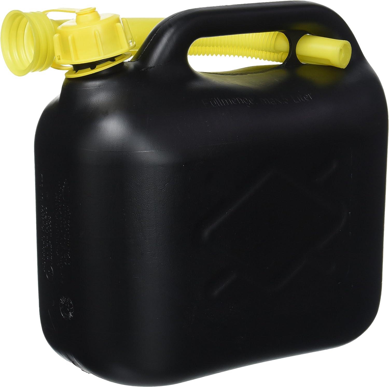 Cartrend 7740055 Bidón de reserva de gasolina 5 Litros, PVC negro, Aprobado por la ONU