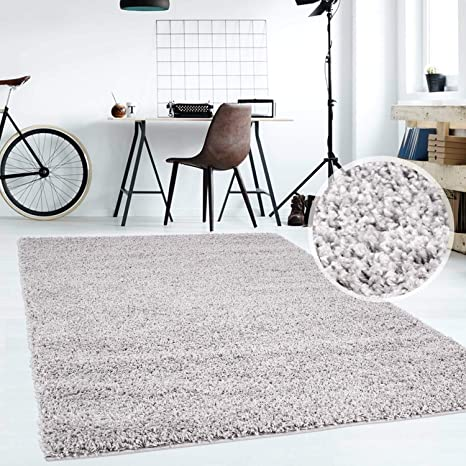 Hochflor Teppich   Shaggy Teppich fürs Wohnzimmer Modern & Flauschig ...