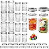 Pack of 16 Mason Jars, Canning Jars, Jelly Jars With Regular Lids, Ideal for Jam, Honey, Baby Foods, Pickling…
