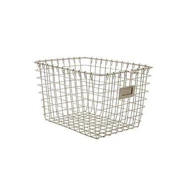 Spectrum Diversified Wire Storage Basket, Small, Satin Nickel