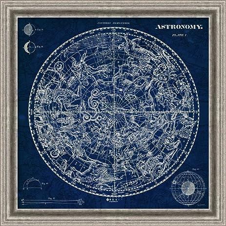 Amazon canvas art framed celestial blueprint by susan canvas art framed celestial blueprint by susan schlabach malvernweather Images