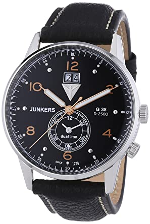 46060644ae3 Amazon.com: Junkers G38 Dual Time GMT 6940-5 Watch: Watches
