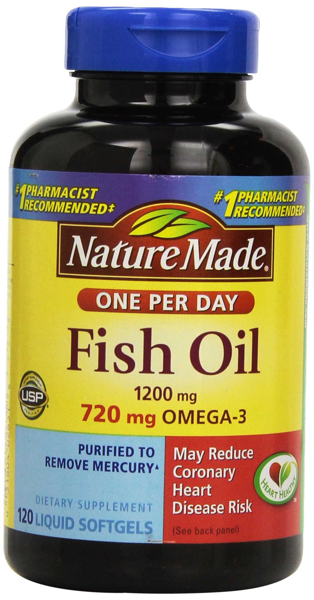 Nature Made Fish Oil Double Strength, 120-Count (Pack of 3)