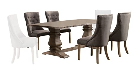 Amazoncom Homelegance Anna Claire Piece Dining Set Inch Zinc - 84 inch dining room table