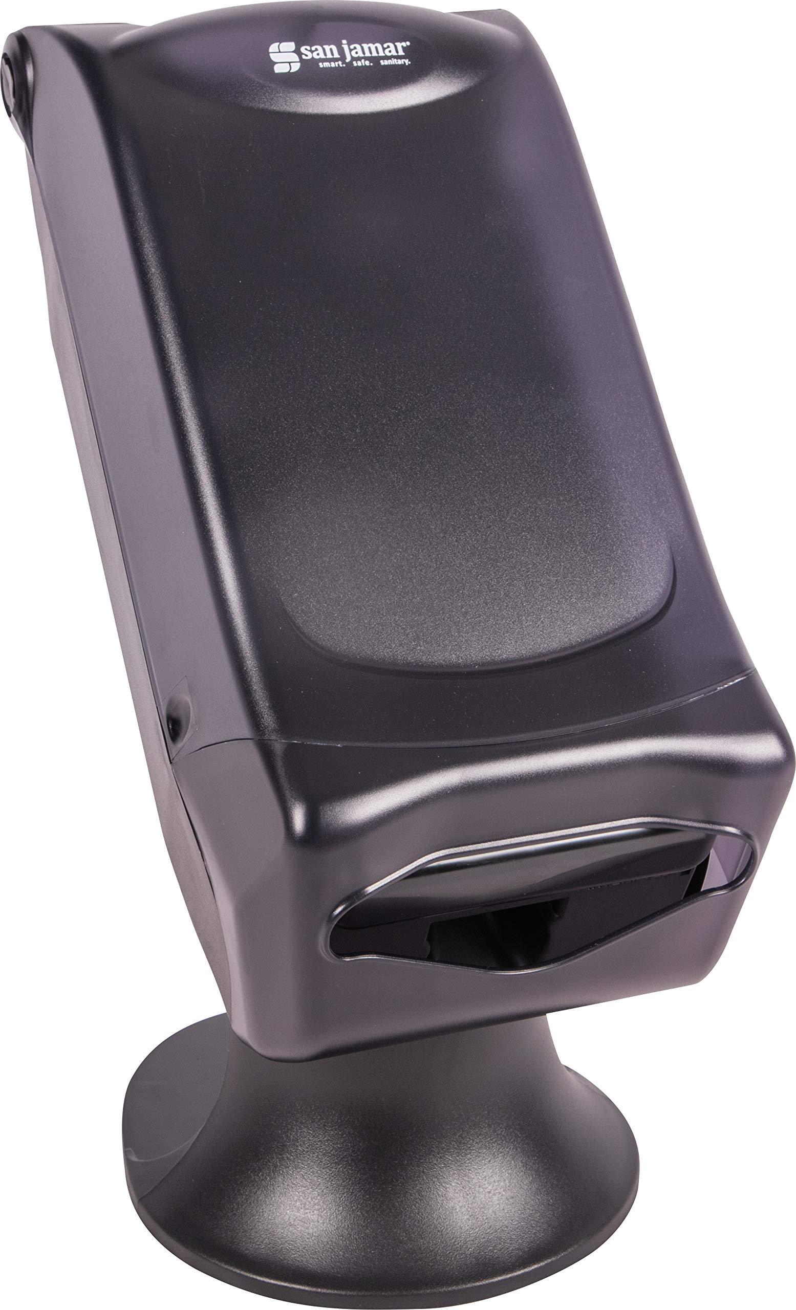 San Jamar H5005S Venue Fullfold Control Napkin Dispenser with Stand, 500 Capacity, 8'' Width x 17-1/2'' Height x 13'' Depth, Black Pearl by San Jamar (Image #3)