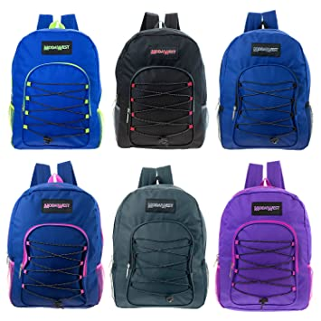"""dada3f476b9 Image Unavailable. Image not available for. Color: Wholesale Backpacks  16"""" Padded Premium Bungee In Assorted Colors - Bulk Case of 24 Bookbags"""