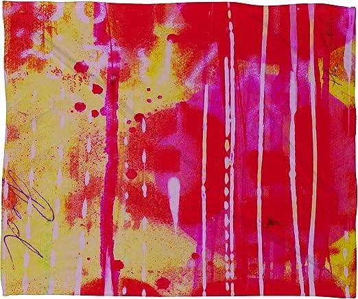 30 x 40 Deny Designs Sophia Buddenhagen Red Circle Fleece Throw Blanket