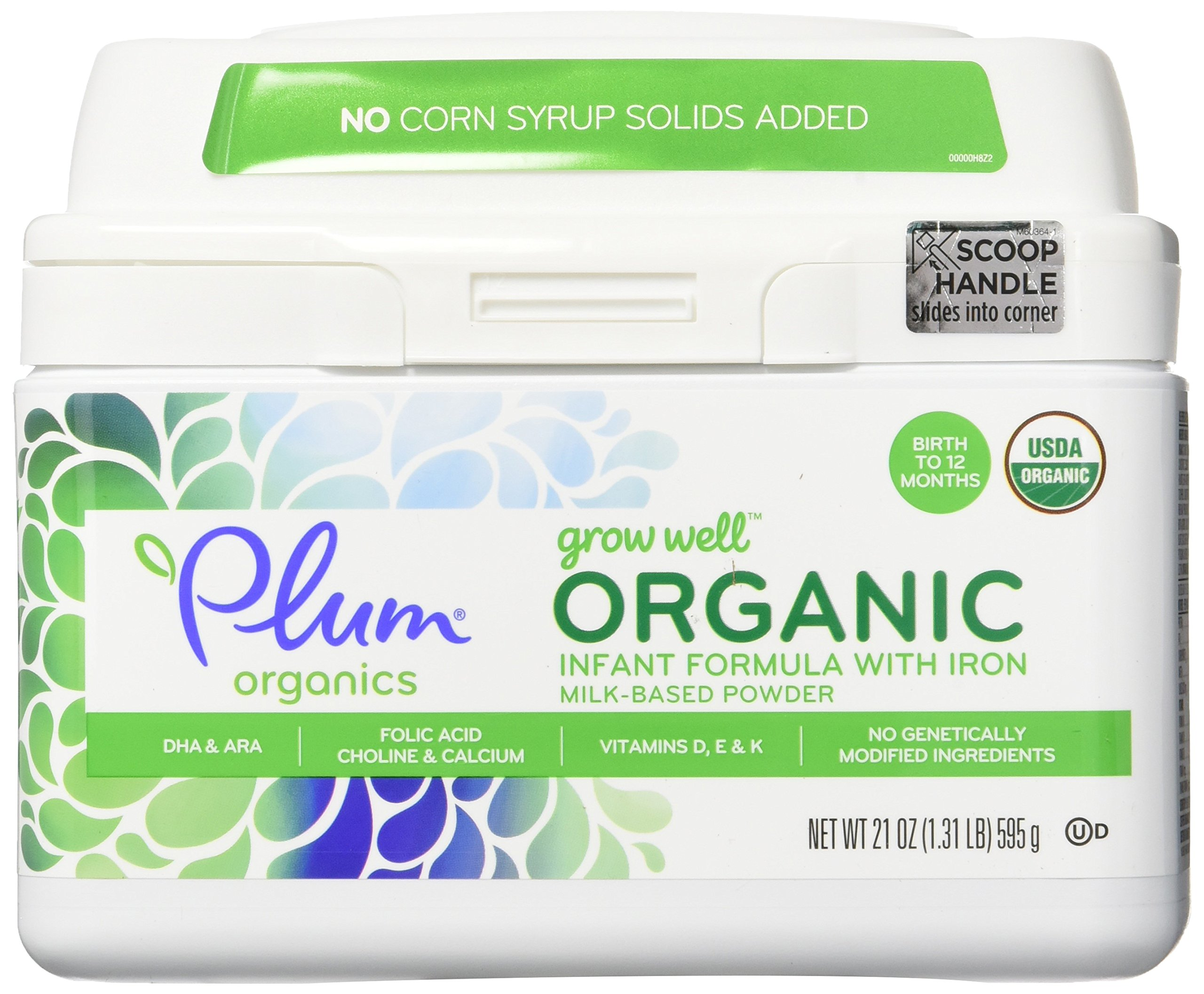 Plum Organics Grow Well Organic Infant Formula, 21 Ounce (Pack of 4) by Plum Organics