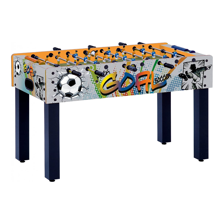 Garlando Calcio Balilla F-1 Con Grafica Goal Con Aste Rientranti F1RGOAL F1RGOAL_GRAFICA MULTICOLOR-u