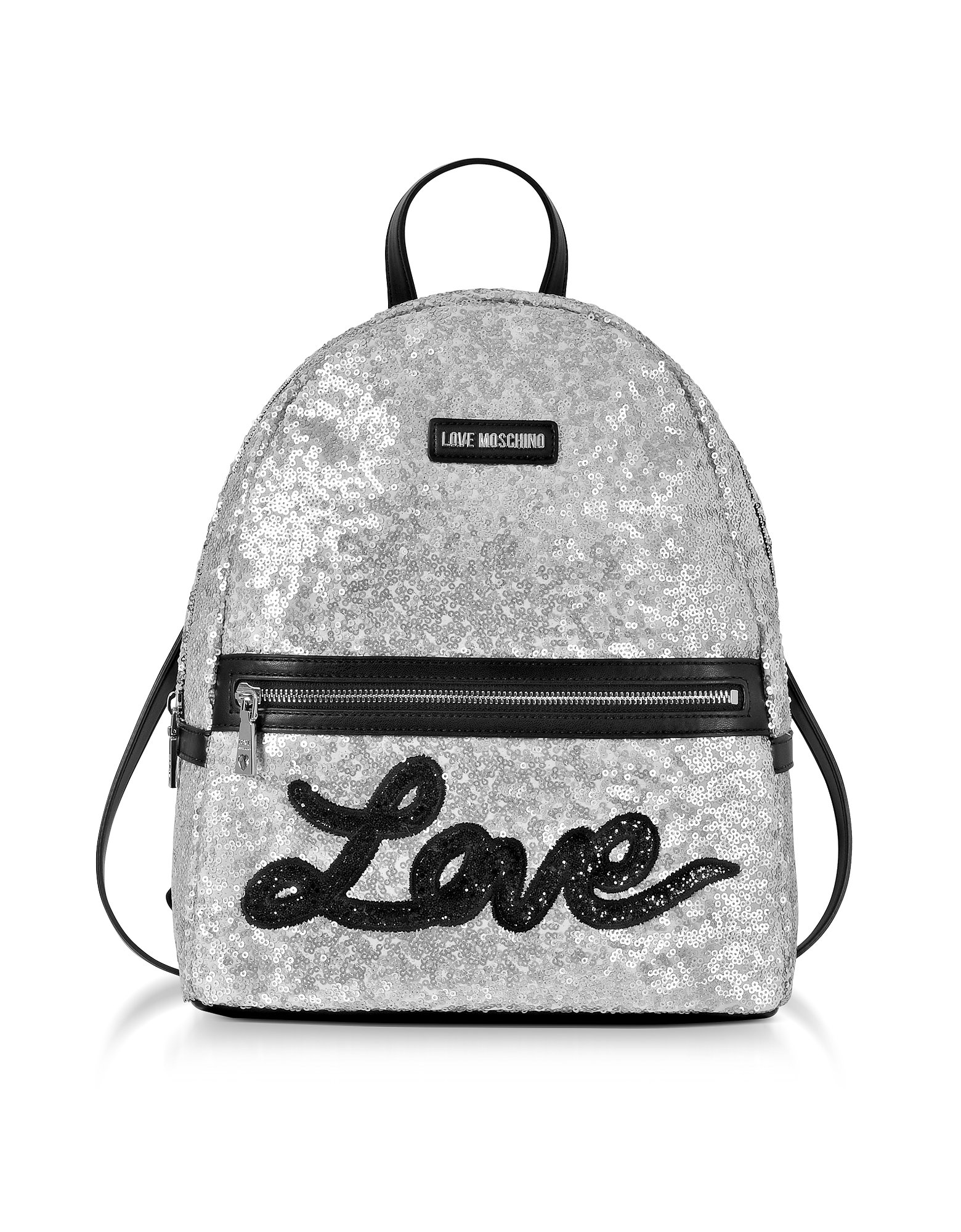 Love Moschino Women's Jc4102pp15lr0902 Silver Leather Backpack