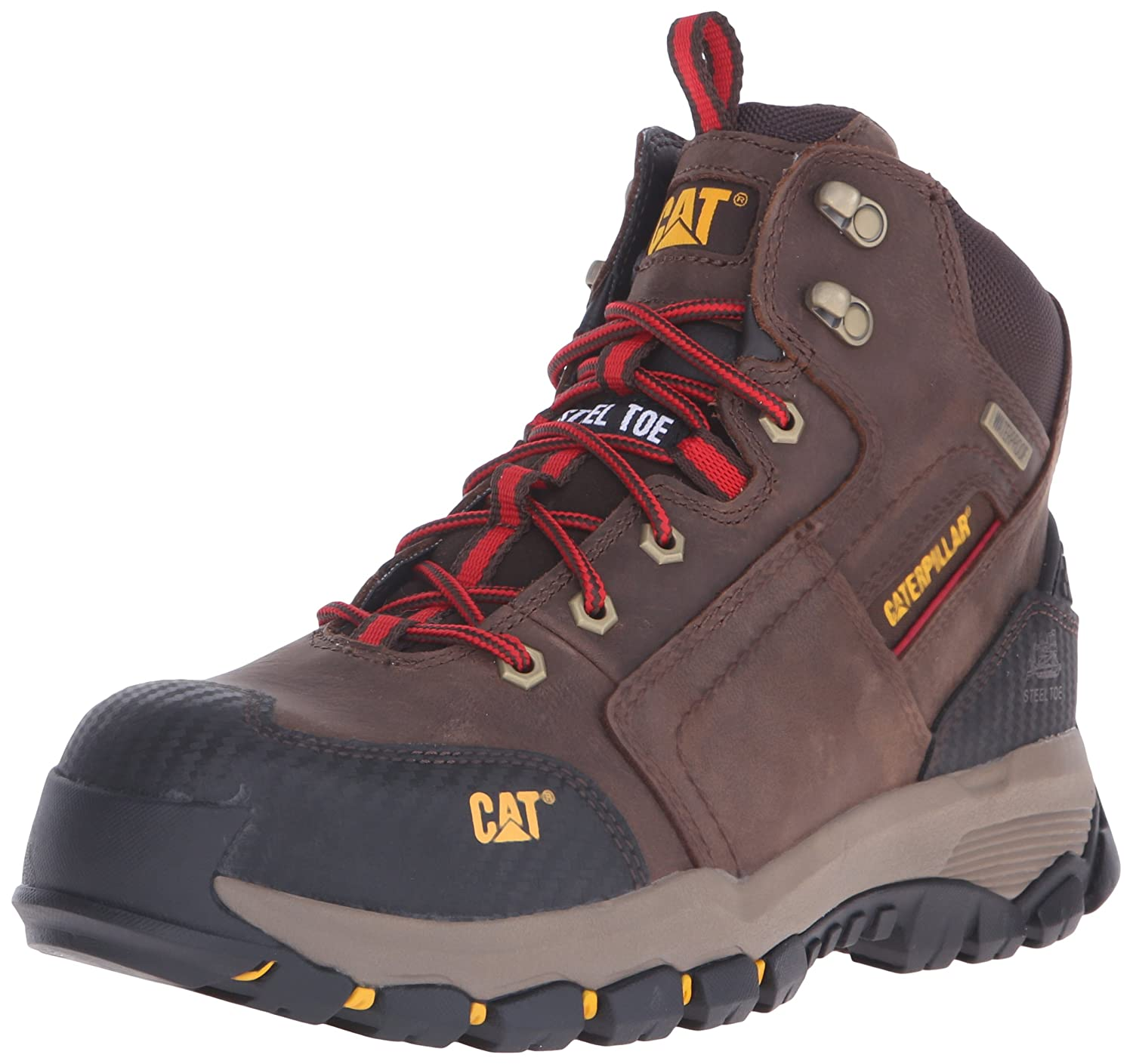 Caterpillar Men 's Navigator Mid防水作業6インチwaterpoofeel Toe クレイ 12 D(M) US 12 D(M) USクレイ B014LWP5G6