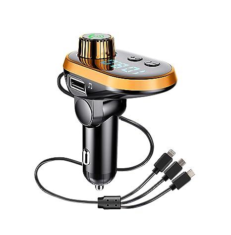 Transmisor FM Bluetooth, Adaptador de radio para coche Reproductor ...