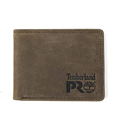 e97e79db5af4c Timberland PRO Men s Leather Trifold Wallet with ID Window