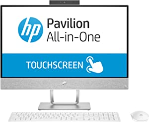 HP Pavilion 24-x026 23.8 Touch AIO Desktop AMD A12-9730 2.8GHz 8GB 1TB W10 (Renewed)