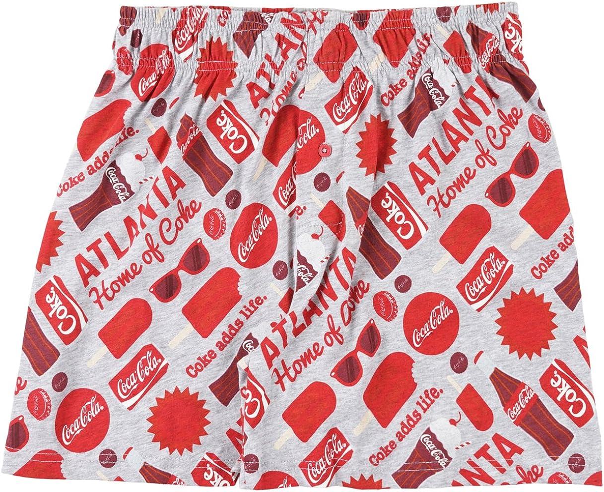 Mens Coca-Cola Atlanta Boxers in Heather Grey