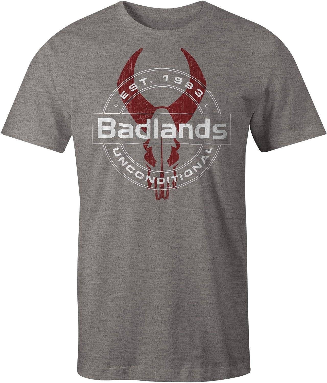 Badlands Mens Unconditional Short-Sleeve Tee Gray