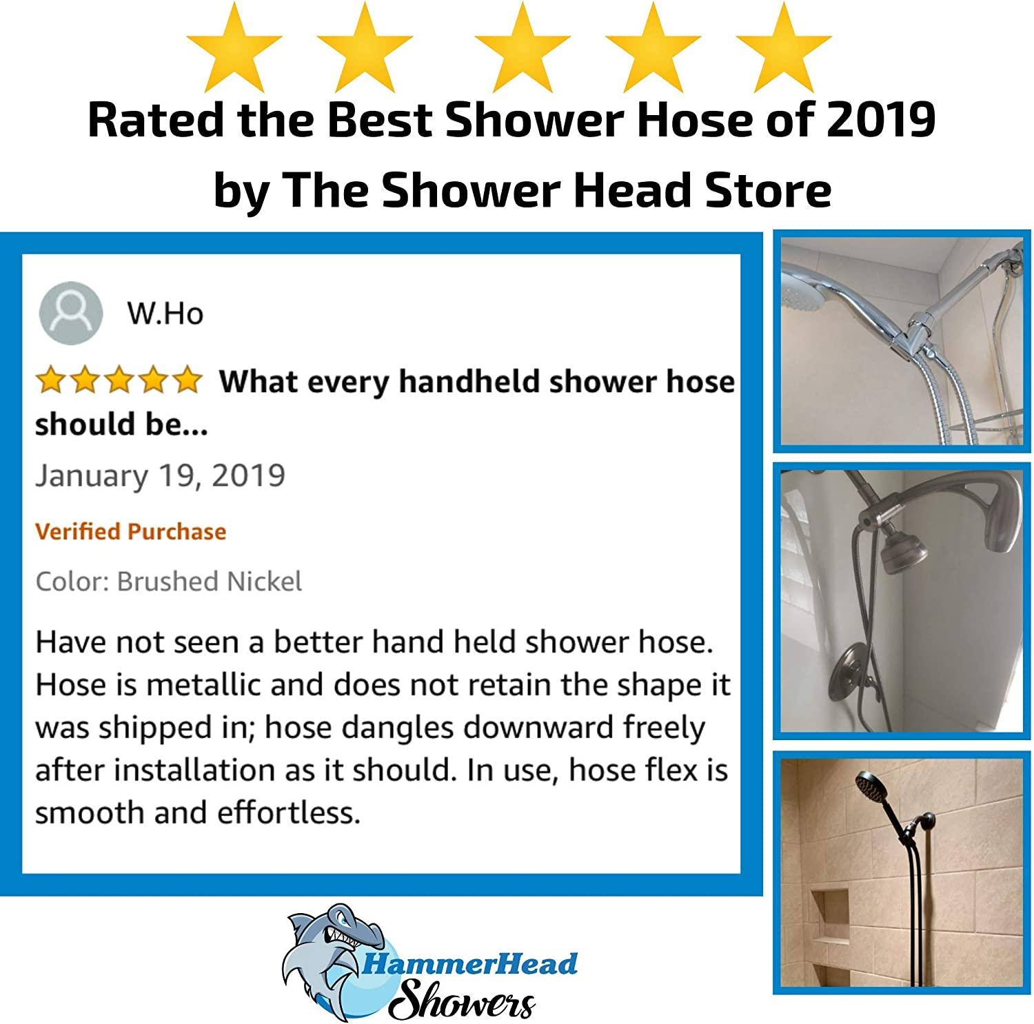 Universal Replacement Part For Handheld Showerhead Hoses Extra Long 72 Inch Cord Made With Commercial Grade 304 Stainless Steel 100/% Metal Shower Hose For Hand Held Shower Heads Oil Rubbed Bronze
