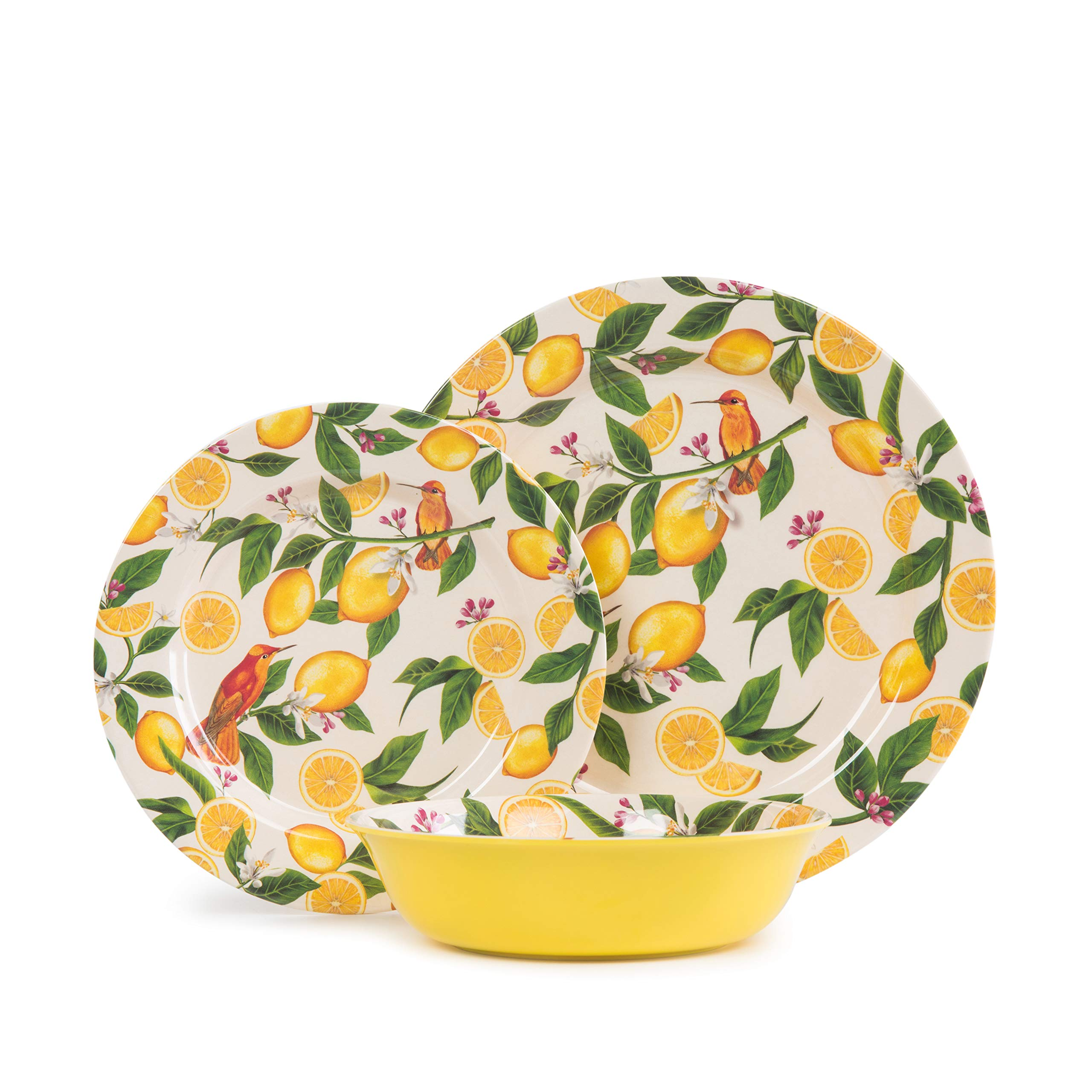 Lemon Dinnerware Set Multi Brylanehome 16-Pc