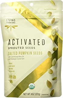 product image for LIVING INTENTIONS Organic Sprouted Salted Pumpkin Seeds, 8 OZ