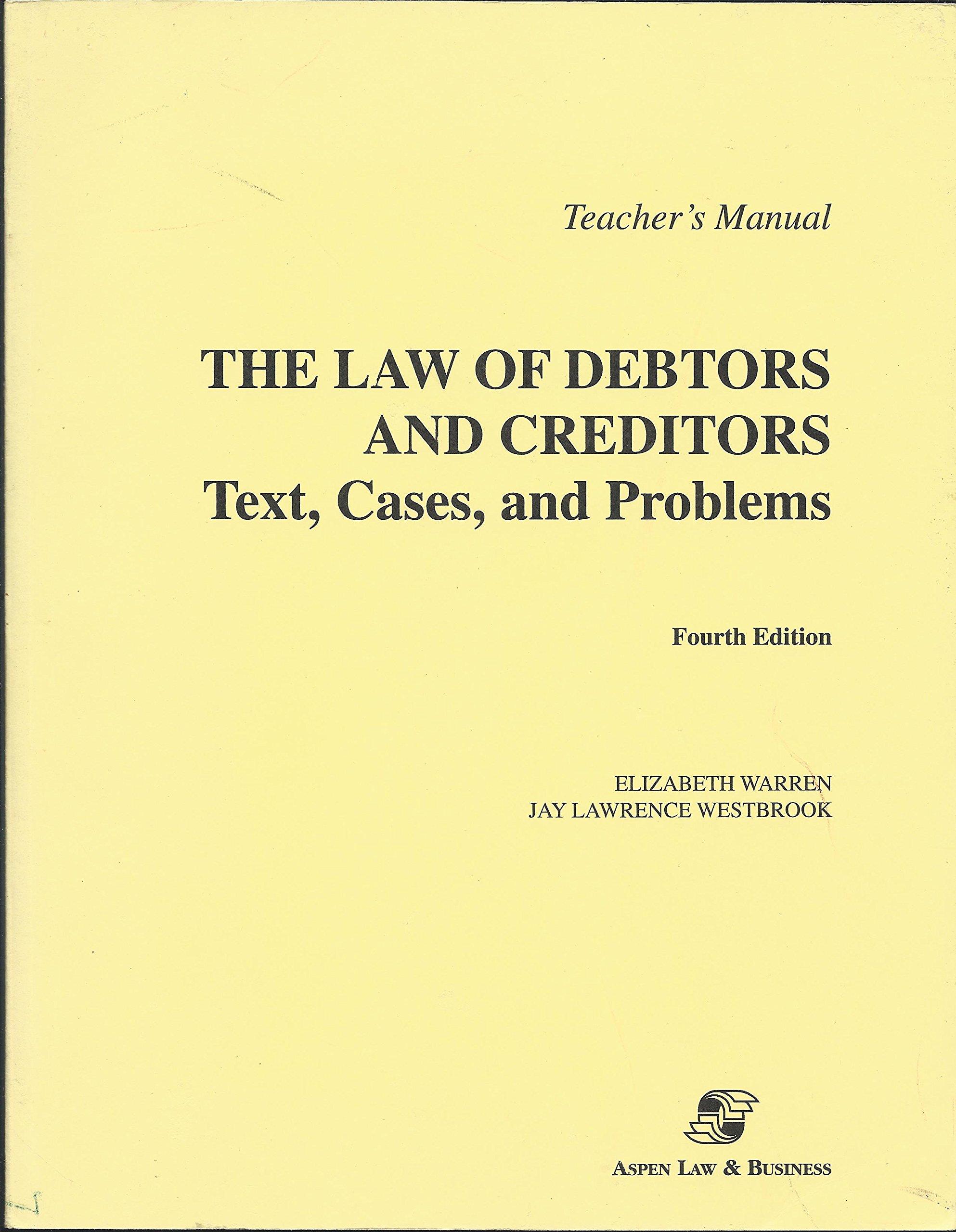 Law of debtors and creditors elizabeth warren jay lawrence law of debtors and creditors elizabeth warren jay lawrence westbrook 9780735520219 amazon books fandeluxe Images