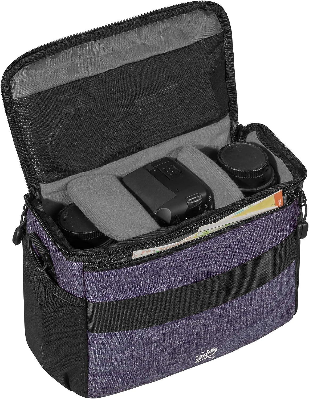 GH4 Apta para Panasonic Lumix DMC G70 G81 Fashion Bolsa para c/ámara GX8 // Sony Alpha 6500 // Nikon D5600 GX80 GM5