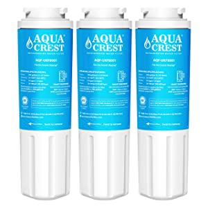 AQUACREST Replacement UKF8001 Refrigerator Water Filter, Compatible with Maytag UKF8001 UKF8001AXX UKF8001P, PUR Jenn-Air UKF8001, Whirlpool 4396395, EveryDrop Filter 4(Pack of 3)