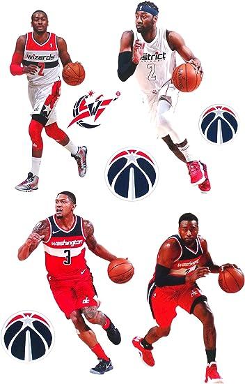 Set of 4 Pieces 5 Longer Side Washington City Wizard Basketball Sport Symbol Team Logo USA Label Vinyl Die-Cut Emblem Sticker Decals