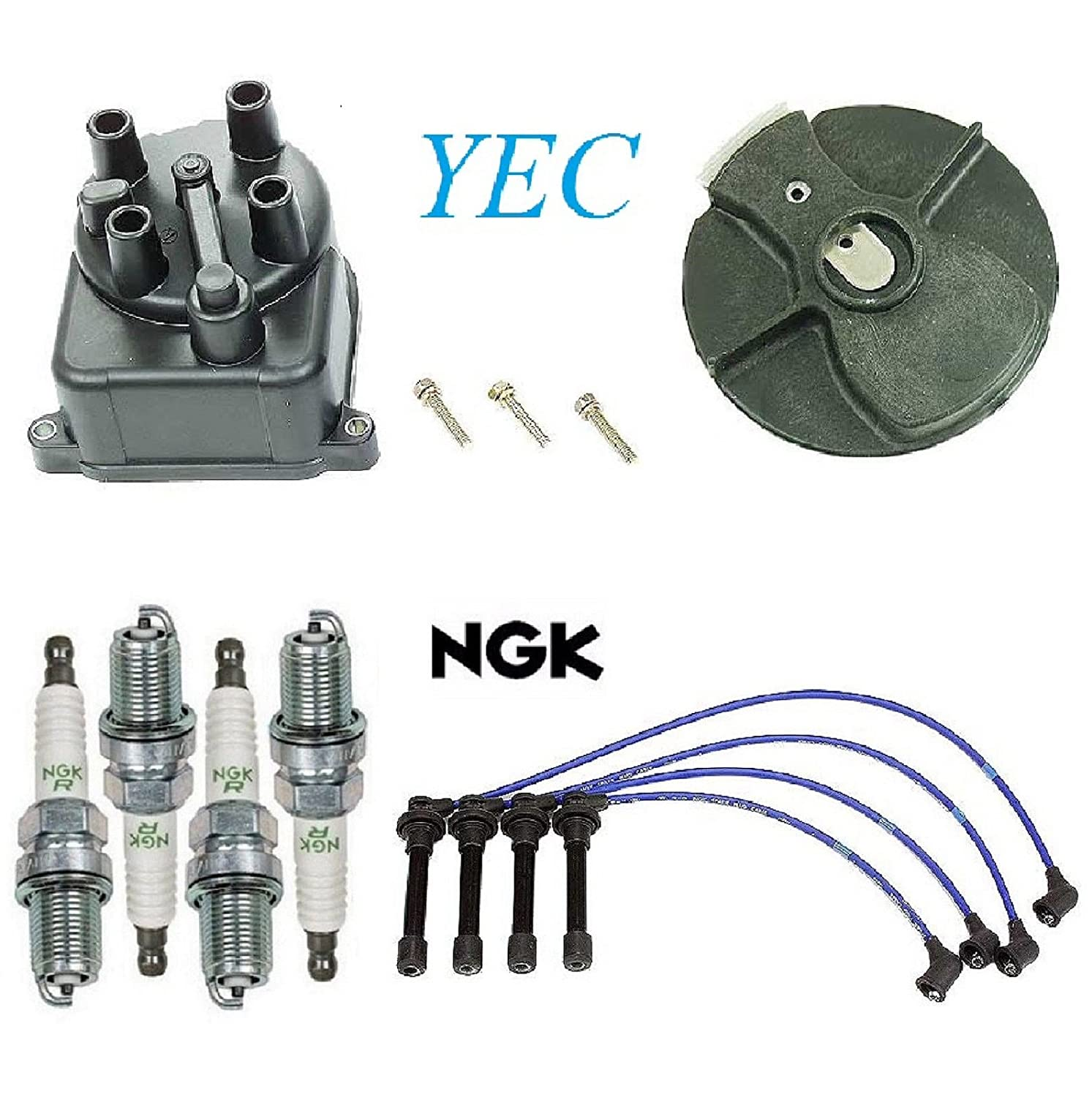 Tune Up Kit Cap Rotor Spark Plugs Wire for Honda Civic 1.6L 1996-2000 8USAUTO
