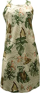 product image for Paradise Found Womens Monstera Orchid Short Tank Dress Beige L