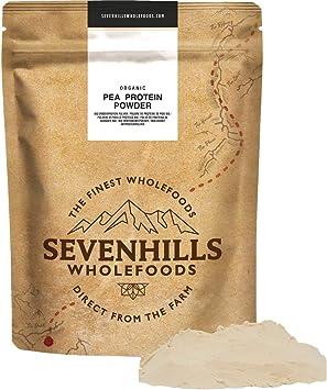 Sevenhills Wholefoods Polvo De Proteína De Guisante Crudo Orgánico (2kg)