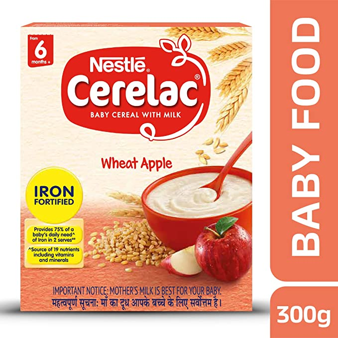 Buy nestle cerelac fortified baby cereal with milk wheat apple buy nestle cerelac fortified baby cereal with milk wheat apple from 6 months 300g pack online at low prices in india amazon ccuart Images
