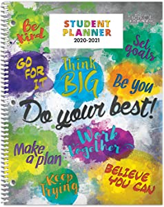 """Dated Elementary Student Planner for 2020-21 Academic Year, School Mate Brand, 8.5""""x11"""" Weekly Matrix Format"""