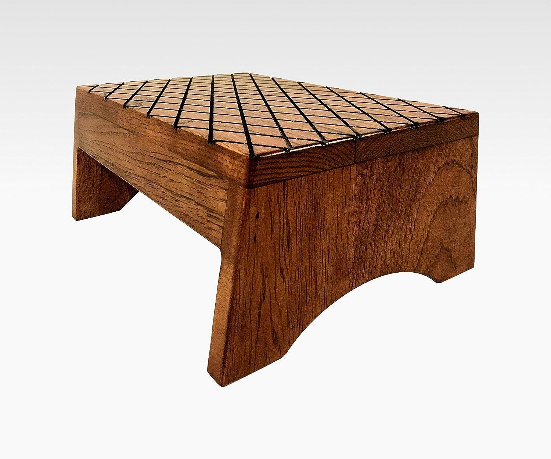 Amazon com wood step stool footstool by cw furniture in mahogany wooden bed custom grandma gift grandparents gift grandpa gift handmade handmade