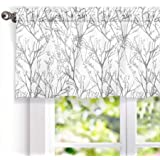 DriftAway Tree Branch Abstract Ink Printing Lined Thermal Insulated Window Curtain Valance Rod Pocket 52 Inch by 18 Inch…