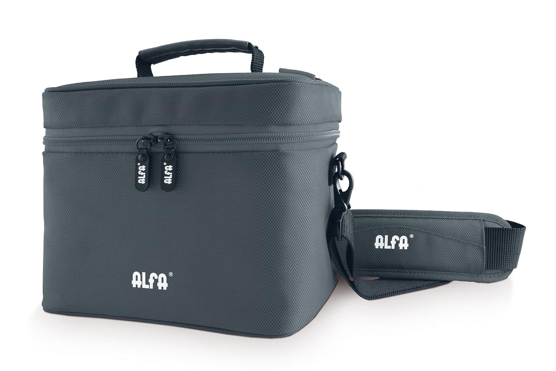 Alfa Edan - Bolsa de trasporte con función termo, base rectangular, 2 litros, color gris