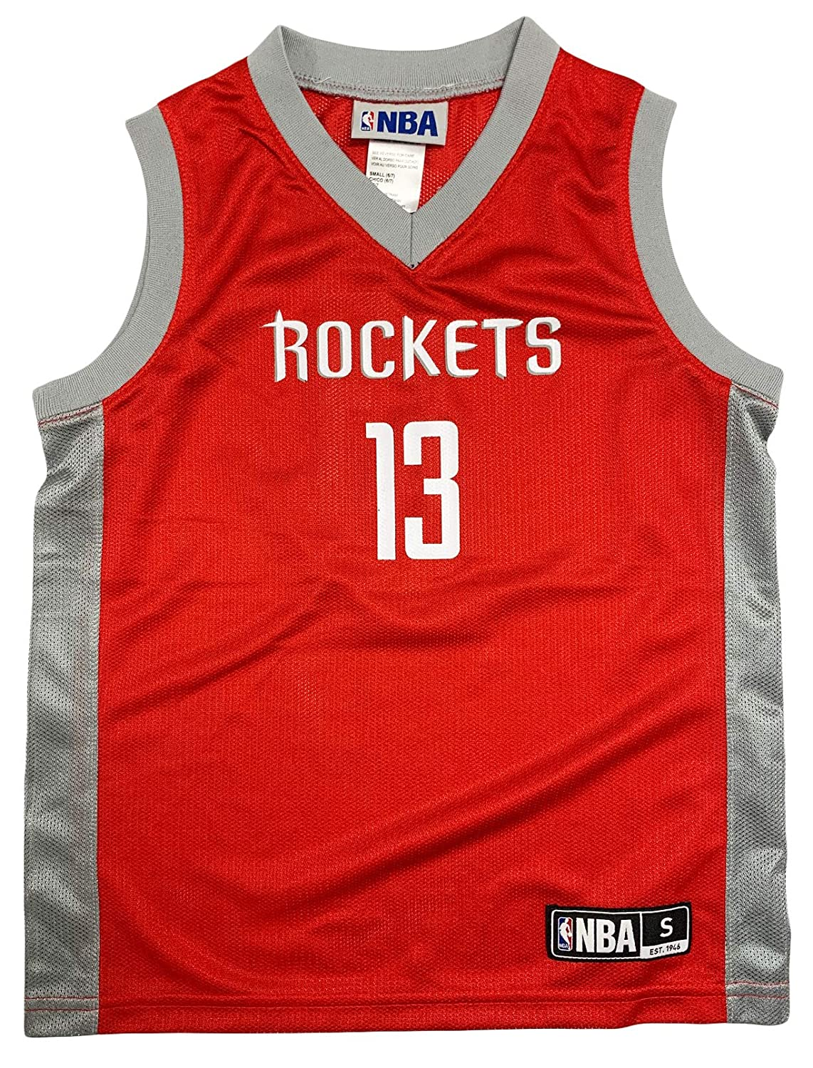 6b2646dbd6d Amazon.com  James Harden Houston Reockets  13 Red Youth Player Road Jersey  (X-Small 4 5)  Clothing