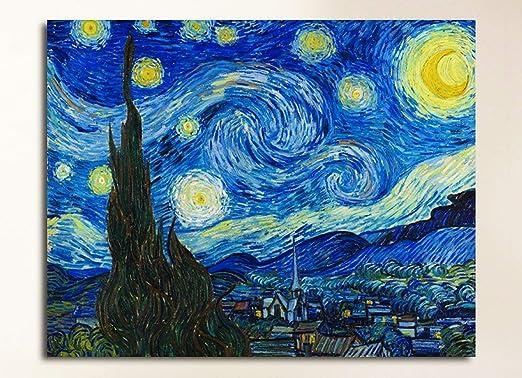 Grafic de van gogh - Noche estrellada - VINCENT VAN GOGH - Lienzo ...