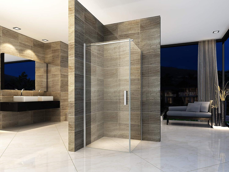 Cabina de ducha de 80 x 80 cm, ducha de esquina, mampara de ducha ...
