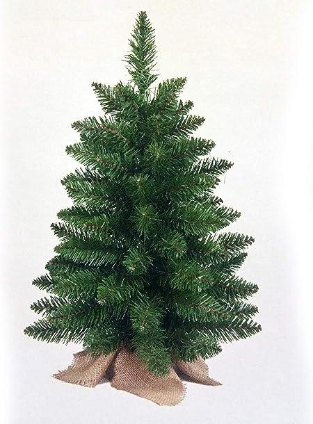 Albero Di Natale 75 Cm.Flora Srl Albero Natale Cm 75 Verde Con Base In Juta Flora S R L Amazon It Casa E Cucina