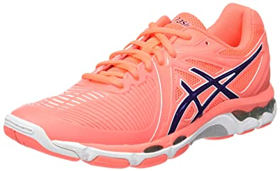 ASICS Damen Gel-Netburner Ballistic Volleyballschuhe Orange (Flash ...