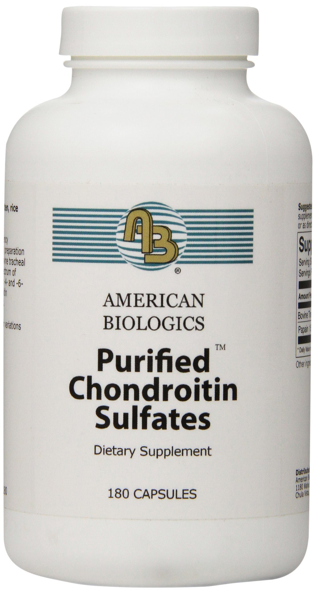 American Biologics Chondroitin Capsules, 180 Count