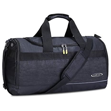 fc27fa57c074 Image Unavailable. Image not available for. Color  G4Free Duffel Bag Sports  Gym Bag 40L Travel Duffle with Shoes Compartment ...