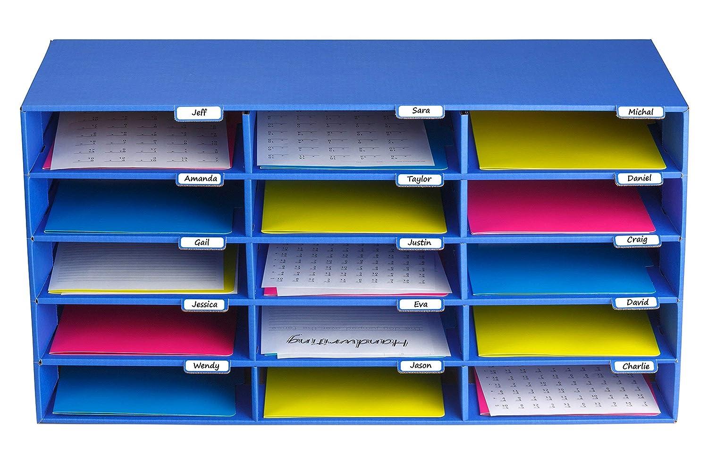 Amazon.com: AdirOffice, organizador de archivos para aulas ...