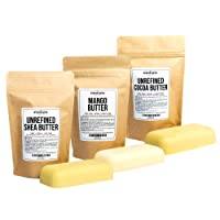 Shea, Cocoa, Mango Butters Set by Better Shea Butter - each butter is 8 oz