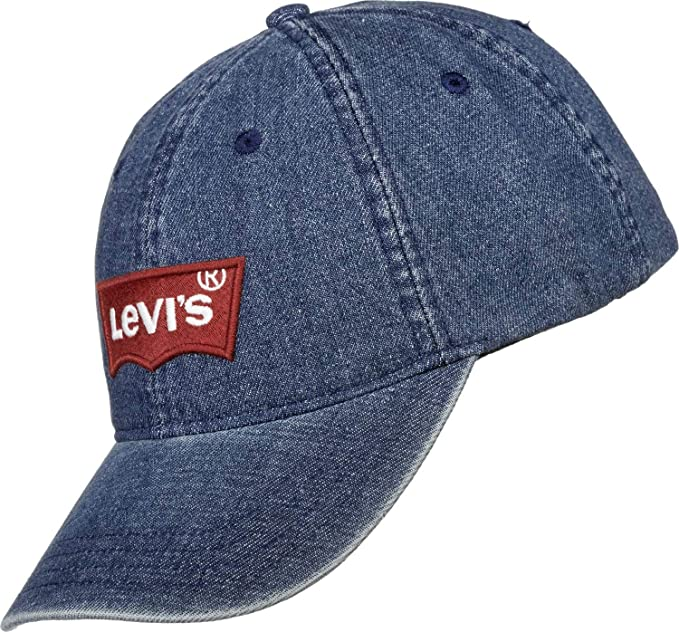Levis Big Batwing Ball Cap Denim, Gorra de béisbol para Hombre, Azul (Light