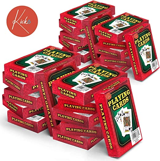 Kicko 24 barajas de cartas – Caja roja impresa, embalaje ...