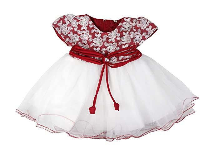 3d9c5b7d081 Robe de cérémonie baptême - rouge et blanc froufrou - bébé fille ...