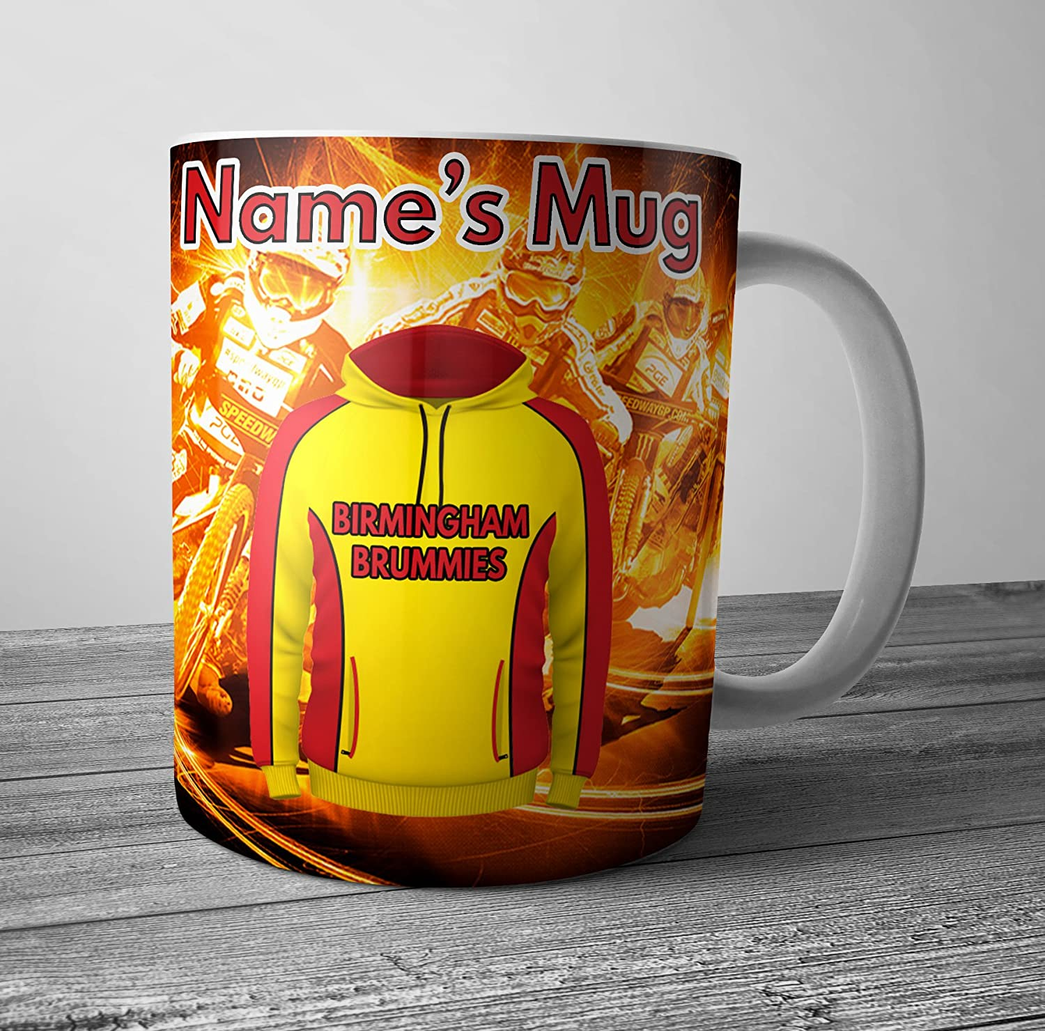 Speedway Birmingham Brummies Mug - Personalised Gift - Add Any Name AK Giftshop Ltd