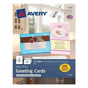 Amazon.com : Avery Half-Fold Greeting Cards for Inkjet Printers ...