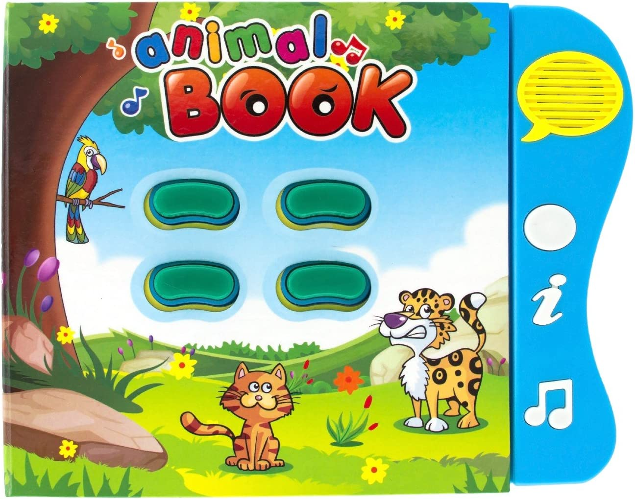 Animal Learning Sound Book Toy for toddlers 6 months to 3 years old. Baby Children Book with Interactive Learning Games and Animal Sounds. Preschool Educational Musical Book and Motor Skills Toy.